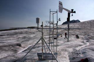 Eddy covariance experiment, Castle Creek Glacier